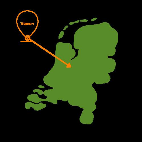 landkaart Vianen